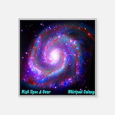 "M51 - Whirlpool Galaxy Square Sticker 3"" x 3"""