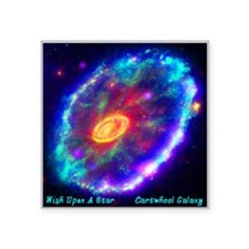 "Cartwheel Galaxy Square Sticker 3"" x 3"""