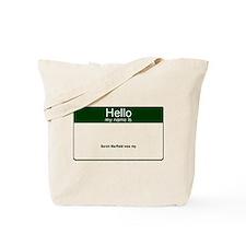 Name Tag Tote Bag