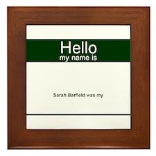 Name Tag Framed Tile