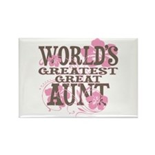 Greatest Great Aunt Rectangle Magnet