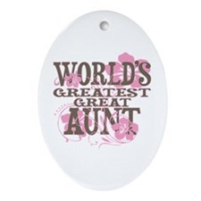 Greatest Great Aunt Ornament (Oval)