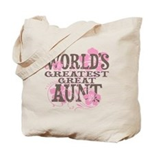 Greatest Great Aunt Tote Bag