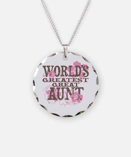 Great Aunt Necklace Circle Charm