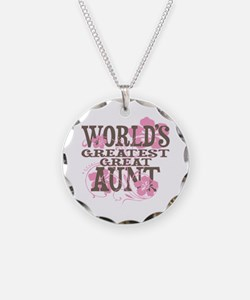Greatest Great Aunt Necklace Circle Charm