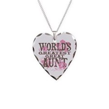 Greatest Great Aunt Necklace Heart Charm