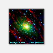 """M31 Andromeda Galaxy Square Sticker 3"""" x 3"""""""