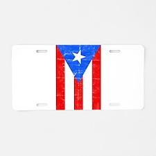 puertorico2 Aluminum License Plate