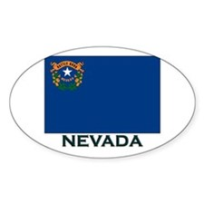 Nevada Flag Gear Oval Decal