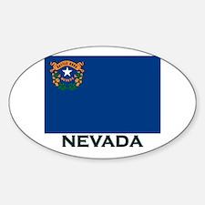 Nevada Flag Gear Oval Decal