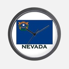 Nevada Flag Gear Wall Clock