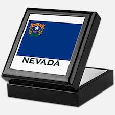 Nevada Flag Gear Keepsake Box