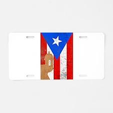 Puerto rico el moro Aluminum License Plate