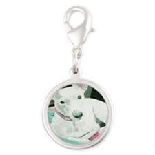 Jack Russell Terrier Sully Silver Round Charm