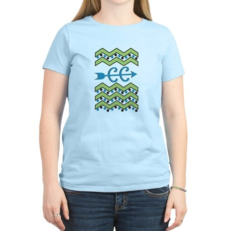 Chevron Dots Cross Country Women's Light T-Shirt