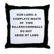 gun laws Throw Pillow