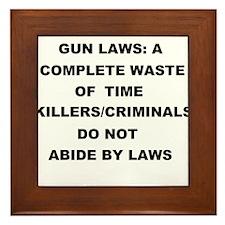 gun laws Framed Tile