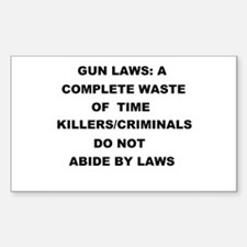 gun laws Decal