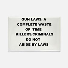 gun laws Rectangle Magnet