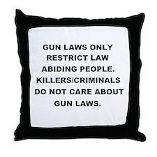 gun laws 2 Throw Pillow