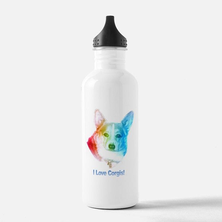 I love Corgis Water Bottle