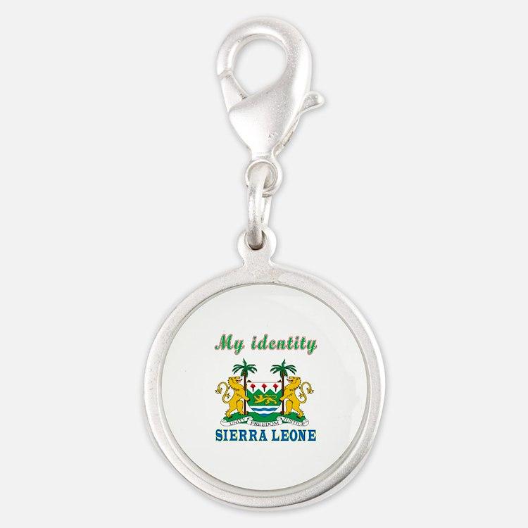 My Identity Sierra Leone Silver Round Charm