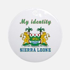 My Identity Sierra Leone Ornament (Round)