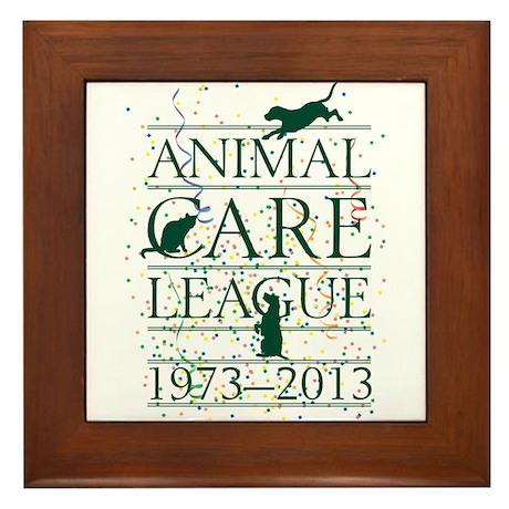 Animal Care League 40th Birthday Framed Tile