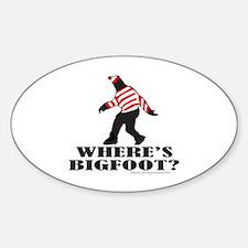 WHERE'S BIGFOOT? Sticker (Oval)