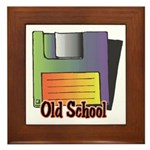 Old School Floppy Disk Framed Tile