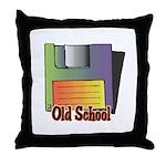 Old School Floppy Disk Throw Pillow