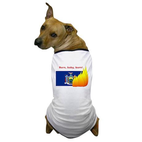 New York State Flag Burn Dog T-Shirt