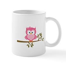 Pink Owl on a Branch Mug