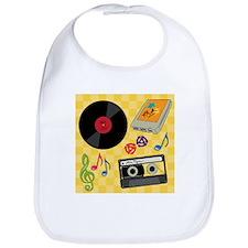 Retro Music Collection Bib