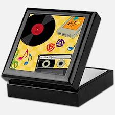 Retro Music Collection Keepsake Box