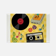 Retro Music Collection Rectangle Magnet