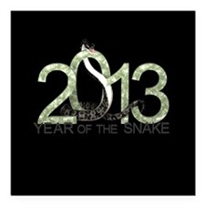 """Year of the Snake 3 Square Car Magnet 3"""" x 3"""""""