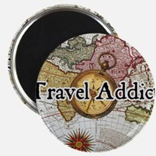 "Cute Travel addict 2.25"" Magnet (10 pack)"