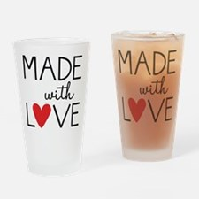 Made With Love Drinking Glass