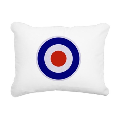 Mod Target Rectangular Canvas Pillow