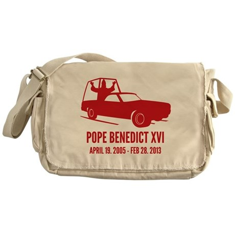 Pope Benedict Retirement Messenger Bag