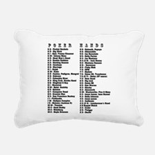 Hold 'Em Hands Rectangular Canvas Pillow