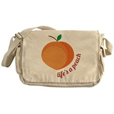 Life's a Peach Messenger Bag