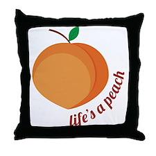 Life's a Peach Throw Pillow
