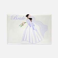 Bride African American Rectangle Magnet