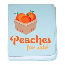 Peaches For Sale baby blanket