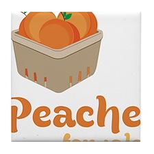 Peaches For Sale Tile Coaster