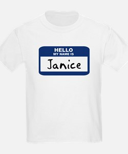 Hello: Janice Kids T-Shirt