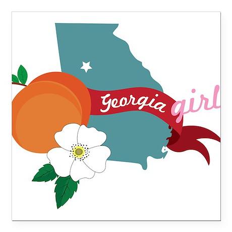 "Georgia Girl Square Car Magnet 3"" x 3"""