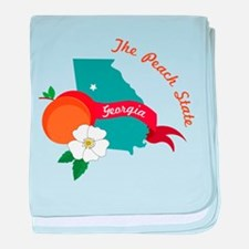 The Peach State baby blanket